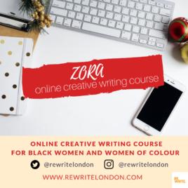ZORA Online Creative Writing Course for Black Women & Women of Colour